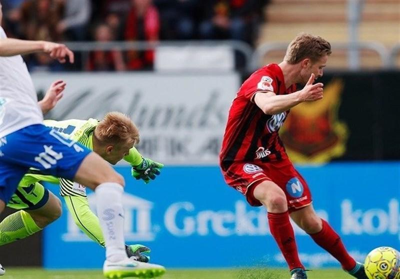 لیگ برتر سوئد ، شکست اوسترشوندس در شب غیاب قدوس