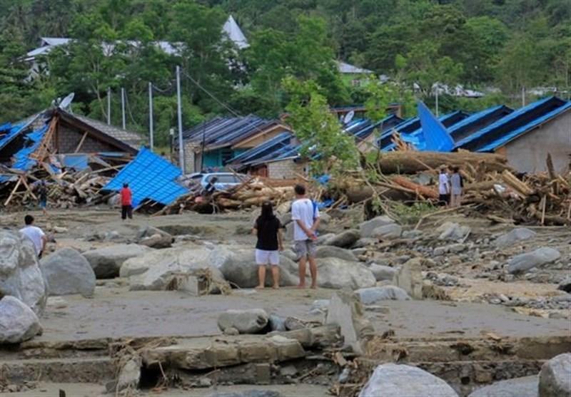 89 کشته و ده ها مفقود الاثر بر اثر سیلاب و رانش زمین در اندونزی