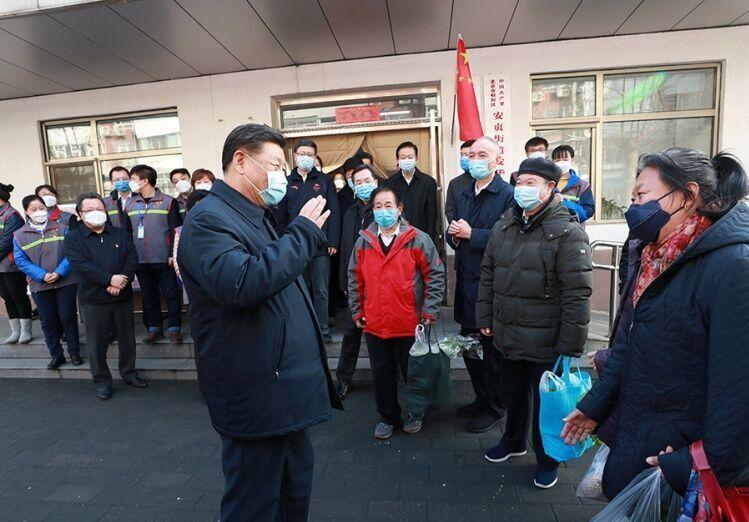 رییس جمهوری چین به دل کانون اصلی کرونا زد