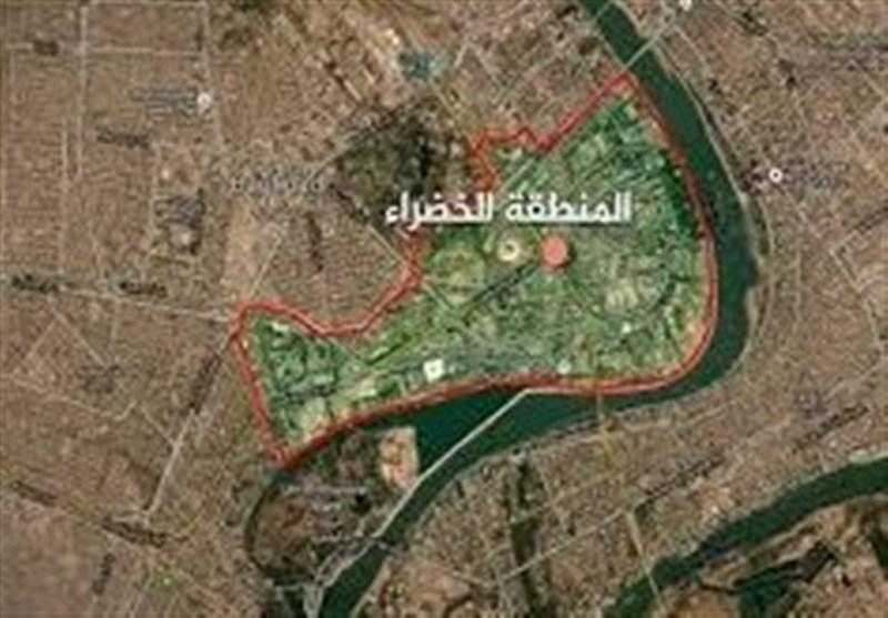 العربیه: یک موشک به اطراف منطقه الخضراء بغداد اصابت کرد