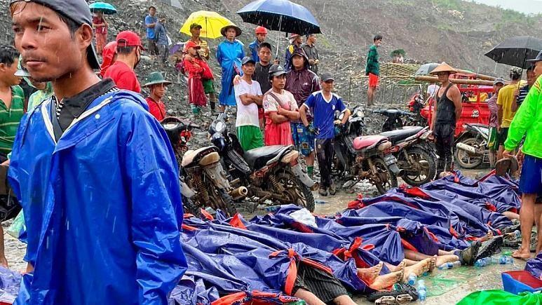 160 کشته در پی رانش زمین در شمال میانمار