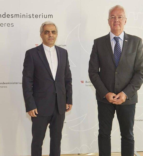 ملاقات سفیر ایران با مقامات وزارت کشور اتریش