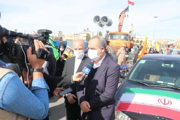 خبرنگاران استاندار قم از حضور انقلابی مردم در یوم الله 22 بهمن تشکر کرد